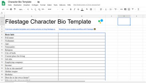 Character Bio Template The Ultimate Character Bio Template 2018 70 Questions