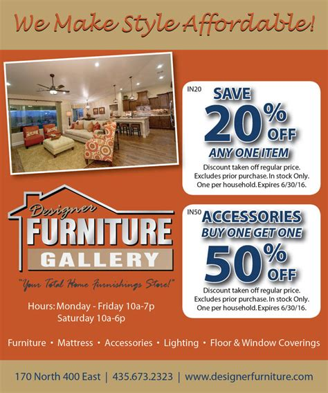 furniture store st george utah designer furniture gallery