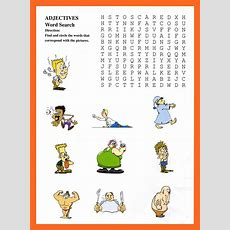 Adjectives Wordsearch For Kids