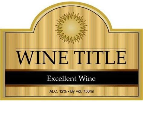 Printable Wine Labels Free Templates by Solar Wine Bottle Label Templates Wine Bottle