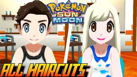 pokemon sun  moon  haircuts colors male
