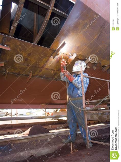 shipyard welder royalty  stock image image