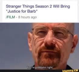 Stranger Things Season 2 Meme