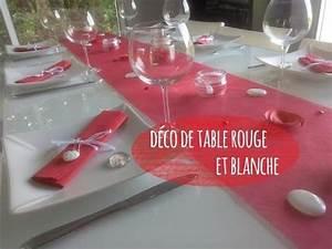 deco de table rouge et blanche youtube With deco chambre rouge et blanc