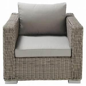 Fauteuil De Jardin Maison Du Monde : fauteuil de jardin en r sine tress e grise cape town ~ Premium-room.com Idées de Décoration