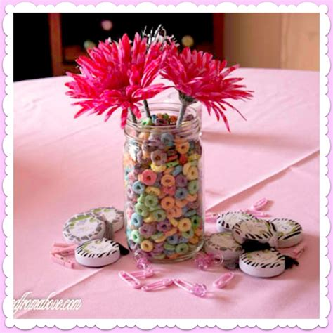 baby girl shower centerpieces adorned from above girl baby shower