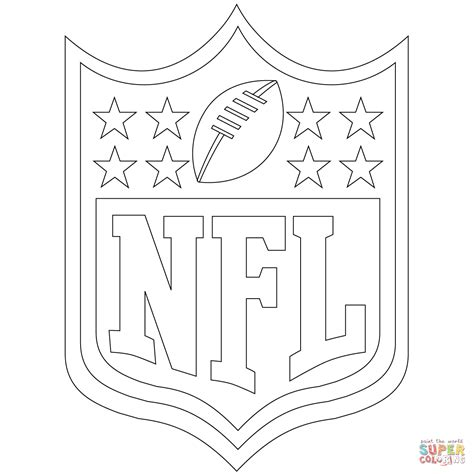 nfl logo coloring page  printable coloring pages