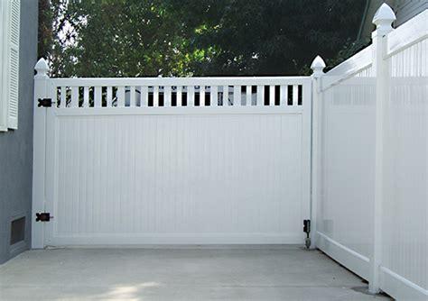 vinyl fence driveway gates citizenhuntercom