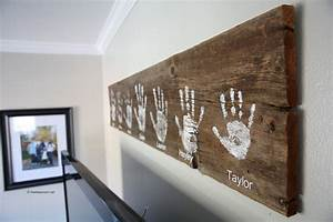 DIY Handprint Wall Sign - The Idea Room