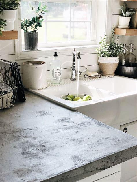 pin  concrete kitchen countertop ideas