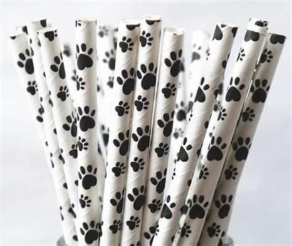 Paper Straw Puppy Paw Sprinklesandconfetti Dog