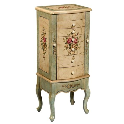 Painted Jewelry Armoire Floral Painted Jewelry Armoire Design Jewelry Armoires