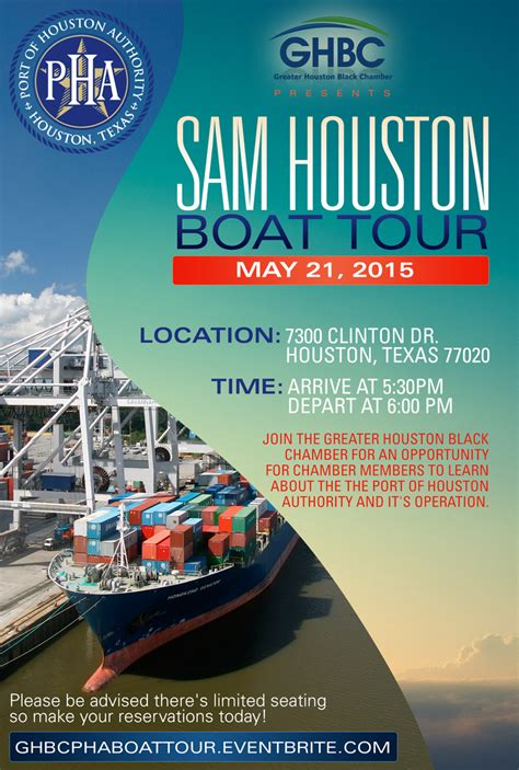 Sam Houston Boat Tour Reservations by Ghbc Port Of Houston Authority Present The Sam Houston