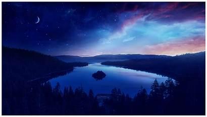 Wallpapers Minimalist Night Landscape Artwork Between Artist