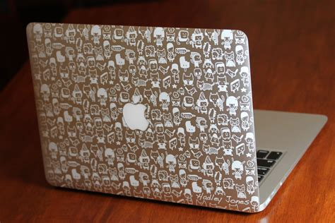 Engraved Macbook Air In A Flash Laser