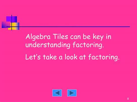 Algebra Tiles Factoring by Ppt Algebra Tiles Powerpoint Presentation Id 1188232