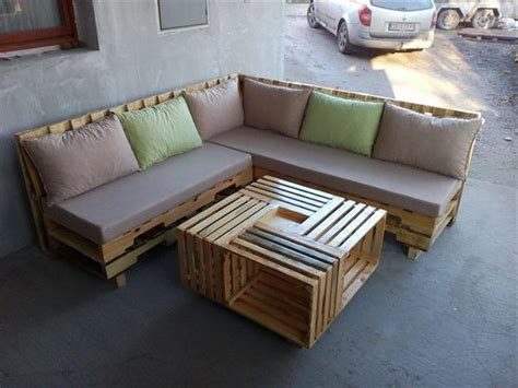How To Make A Sofa Set by Some Wonderful Pallet L Shape Sofa Set Pallets Designs