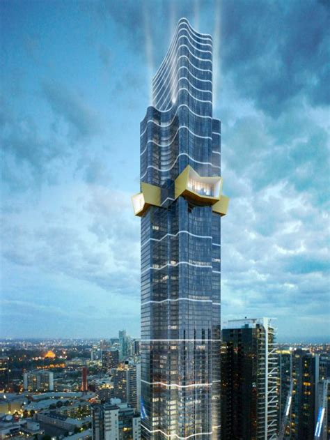 an artist s impression of the 319 metre australia 108 building approved for construction