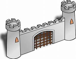 Gate clip art free vector