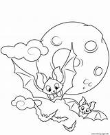 Coloring Halloween Bat Bats Printable Flying Spider Canny Pdf Ghost Adults Transparent Monster Bibaxu Mammals Pumpkin Disimpan Dari sketch template
