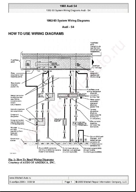 audi s4 1993 wiring diagrams service manual schematics eeprom repair info for