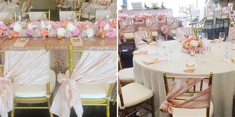 beautiful blush  sequin bridal shower  var
