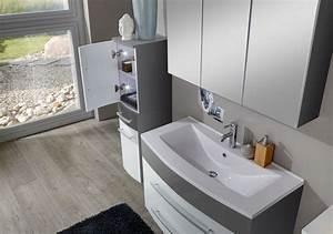 Badezimmer Set Grau : sam 5tlg badezimmer set hochglanz wei grau 80cm genf auf lager ~ Indierocktalk.com Haus und Dekorationen