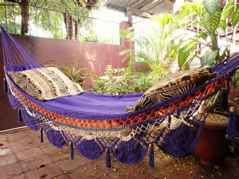 Hippie Hammock by Violet Hammock Woven Cotton With Special Fringe