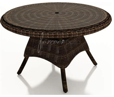 48 glass table top wicker forever patio leona 48 quot round dining table with