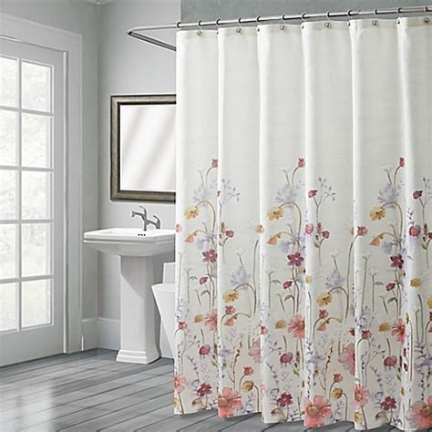 croscill shower curtains croscill 174 pressed flowers shower curtain bed bath beyond
