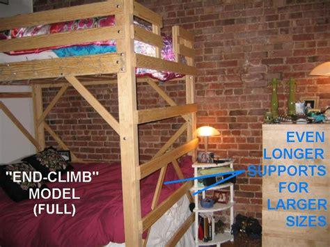 woodwork loft bed plans queen  plans