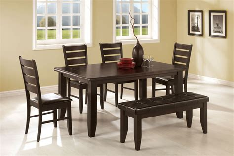 5 dining room set with bench dining room set with bench home design ideas