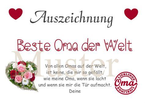 Urkunde Beste Oma Der Welt Din A4 Bester Opa
