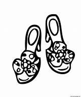 Coloring Shoes Printable Colouring 4kids Princess Printables sketch template