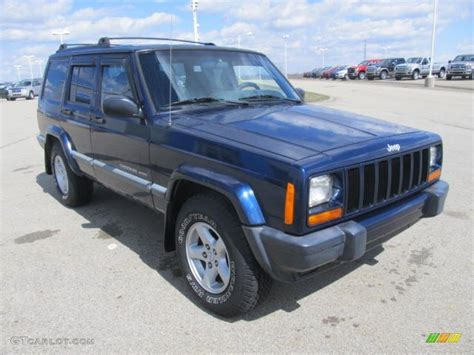 patriot jeep blue patriot blue pearlcoat 2001 jeep cherokee sport 4x4