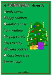 Christmas acrostic poems and templates by Norah Colvin