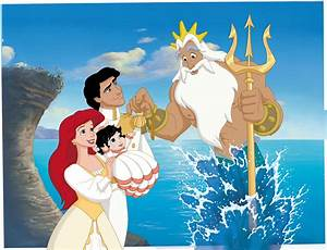 Ariel, King Triton, Eric, and Melody in Little Mermaid II ...