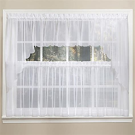 14 Inch Valance by Emelia 14 Inch Sheer Window Valance In White Www