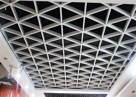 Metal Ceiling Grid by Unique Lattice Suspended Metal Ceiling Grid For Office