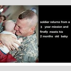 Soldier Returns From A 3 Year Mission And Finally Meets His 2 Months Old Baby  Soldier Meme On