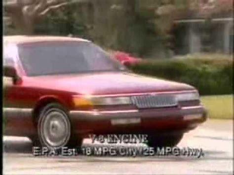 all car manuals free 1992 mercury grand marquis windshield wipe control 1992 mercury grand marquis commercial youtube