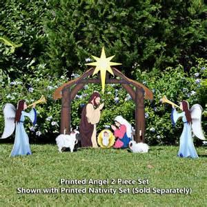 printed nativity angel 2 piece set outdoor nativity sets