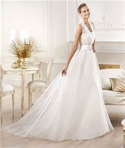 informal modern a line chiffon destination wedding dress With collared wedding dress