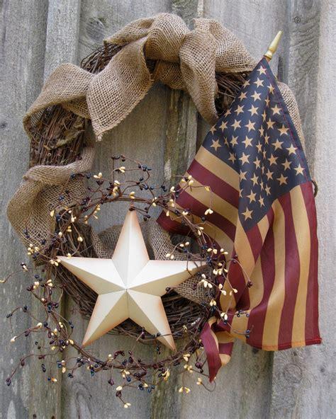 fall wreath americana wreath autumn decor patriotic