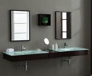 Modern BLOX 74 Inch Floating Bathroom Vanity Set Solid