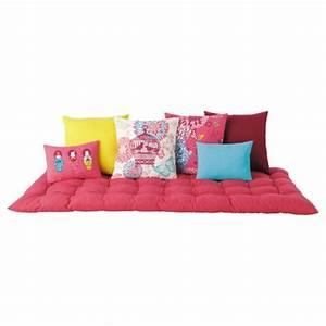 Matelas futon coussin de sol capitonne detente et for Chambre ado garçon avec matelas pour lit relaxation