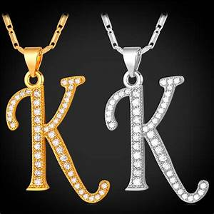 online get cheap initial k necklace aliexpresscom With letter necklace cheap