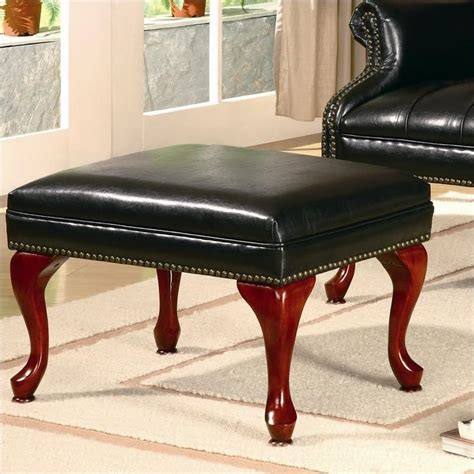 coaster wing back tufted faux leather arm chair and