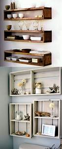 Best 25 wall shelves ideas on pinterest shelves wall for Ideas to build interesting wood shelving units