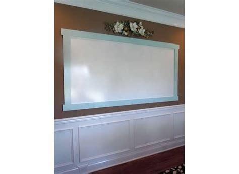 Shower Board Whiteboard - homeschool room whiteboard made out of shower board